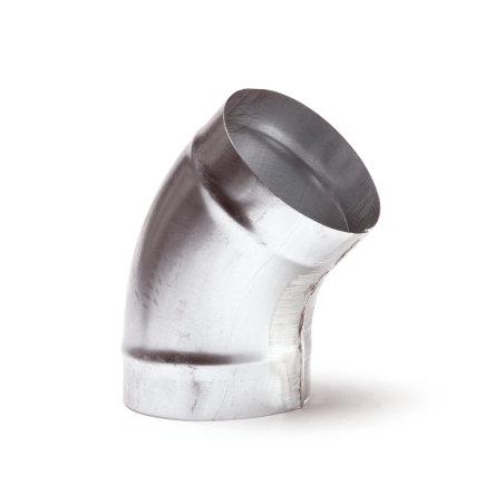 Spiraliet bocht 45°, 2x verjongd spie, 150 mm
