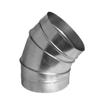 Spiraliet bocht 45°, gesegmenteerd, 2x verjongd spie, 355 mm  default 435x435