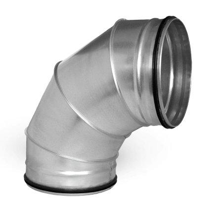 Spiraliet bocht 90°, gesegmenteerd, met epdm ring, 2x verjongd spie, 355 mm  default 435x435