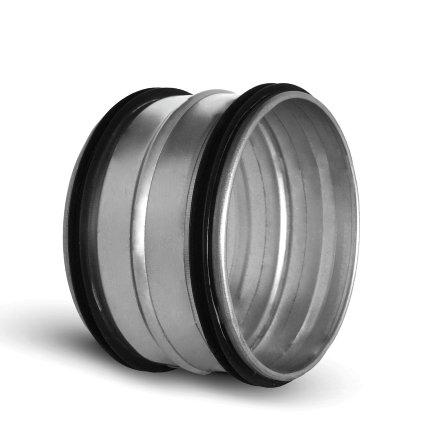 Spiraliet verbindingsstuk, met epdm ring, 2x verjongd spie, 125 mm
