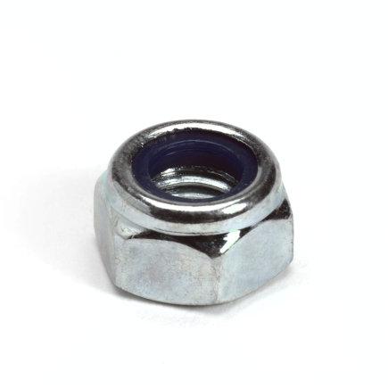Borgmoer met nylon ring, staal, elektrolytisch verzinkt, DIN 985/6-8, M16
