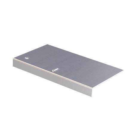 Koppelstuk voor aluminium daktrim, 35 x 35 mm