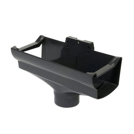 Nicoll Ovation Rinnenauslauf, PVC, Mitte, anthrazit, RAL7016, 125x80mm
