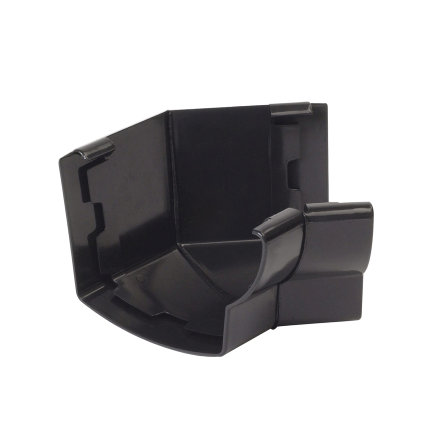 Nicoll Ovation Innenwinkel 135°, PVC, schwarz, RAL9011, 125 mm