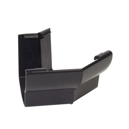 Nicoll Ovation Außenwinkel 135°, PVC, schwarz, RAL9011, 125mm