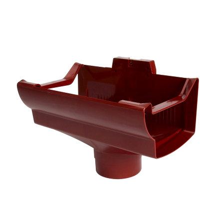 Nicoll Ovation Rinnenauslauf, PVC, Mitte, rot, RAL3004, 170mmx100mm