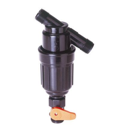 """Amiad kunststof vloeistoffilter exclusief cilinderzeef, 2x bu.dr. ¾"""""""