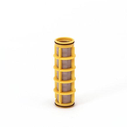 "Amiad cil.zeef tbv kunststof filter ¾"", d x l = 31 x 125 mm, zeefperforatie 0,10 mm, geel"
