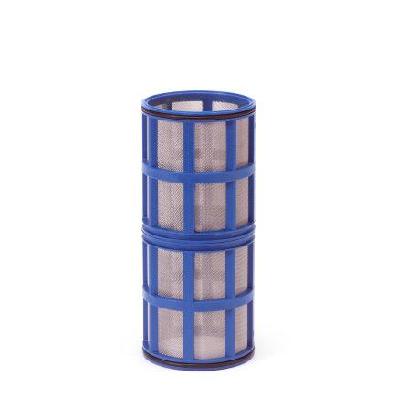 """Amiad cil.zeef tbv vloeistoffilter 2"""", d x l = 100 x 250 mm, zeefperf. 0,30 mm, blauw"""