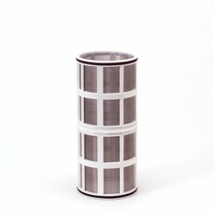 """Amiad cil.zeef tbv vloeistoffilter 2"""", d x l = 100 x 250 mm, zeefperf. 0,20 mm, wit"""