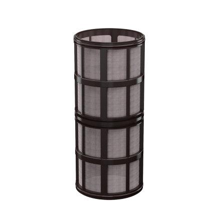 """Amiad cil.zeef tbv vloeistoffilter 2"""", d x l = 100 x 250 mm, zeefperf. 0,08 mm, zwart  default 435x435"""