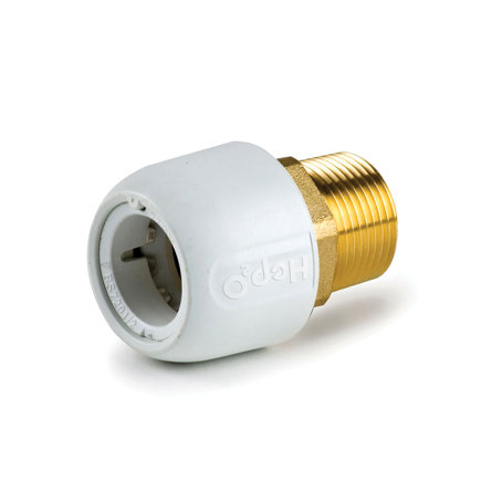 "Hep2O pb/messing draadkoppeling, steek x buitendraad, 15 mm x ½""  default 435x435"