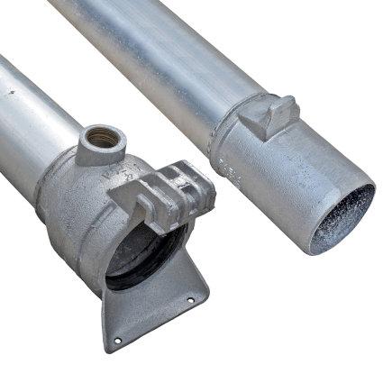 """Humet snelkoppelbuis met insteekkoppeling en 1"""" binnendraad, aluminium, l = 6 m, 102 mm"""