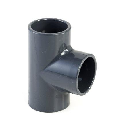 VDL pvc T-stuk 90°, 3x inwendig lijm, 10 bar, 32 mm