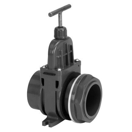"""VDL pvc schuifafsluiter, inwendig lijm x doorvoeraansluiting, 50 mm x 2""""  default 435x435"""