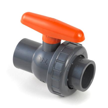 VDL pvc kogelafsluiter, 2x inwendig lijm/1x wartel, 16 bar, 25 mm, epdm  default 435x435
