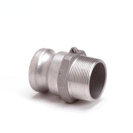 "Camlock M-deel met buitendraad, aluminium, type F, 38 mm x 1½"""