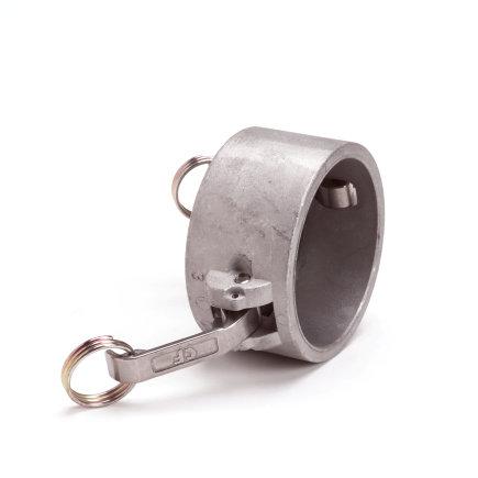 "Camlock V-deel afsluitkap, aluminium, type DC, 38 mm x 1½"""