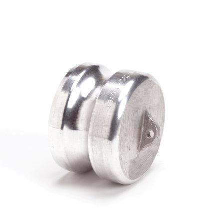 Camlock M-deel afsluitplug, aluminium, type DP, 38 mm