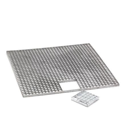 Fonteinvijverrooster, gegalvaniseerd staal, 100 x 100 cm  default 435x435