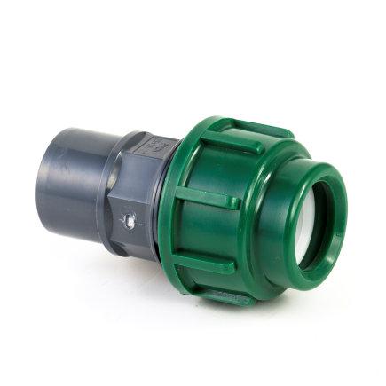 VDL pe- / pvc koppeling, klem x inwendig/uitwendig lijm, 10 bar, 16 x 25/32 mm  default 435x435