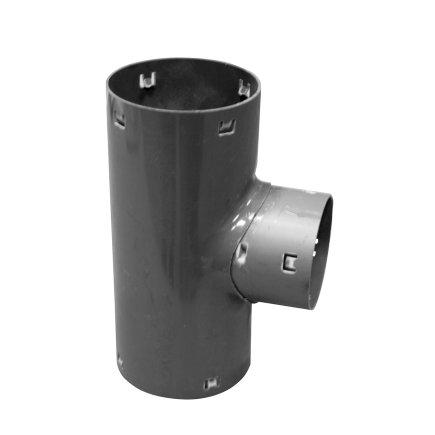 Klik verloop T-stuk 90° voor drainagebuis, pvc, 80 x 60 mm  default 435x435
