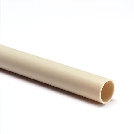 Pvc elektrabuis, crème, 51 mm, gladde uitvoering, l = 4 m