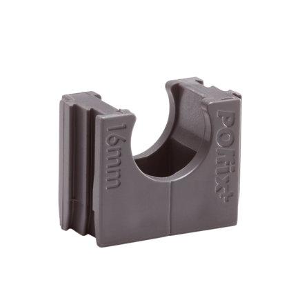 Polfix buisklem, grijs, 19 mm