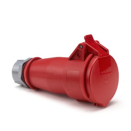 Mennekes CEE koppelcontactstop, 400 V, 4-polig, 16 A, rood