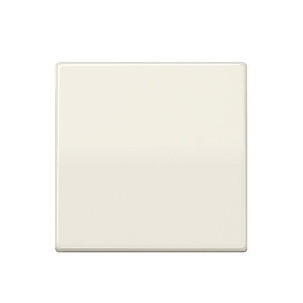 Jung enkele schakelwip met inbouwafdekplaat, AS range, centraalplaat, wit