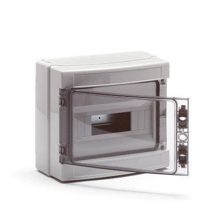 Gewiss ledige modulekast, 12 modules, IP65, slagvast, met transparante deur