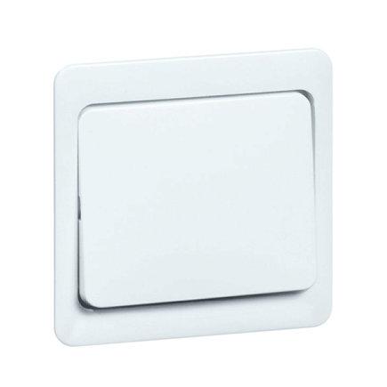 Peha Standard klemwip met centraalplaat, tbv combinaties, 1-p, hotel, kruis, pulsdrukker, wit