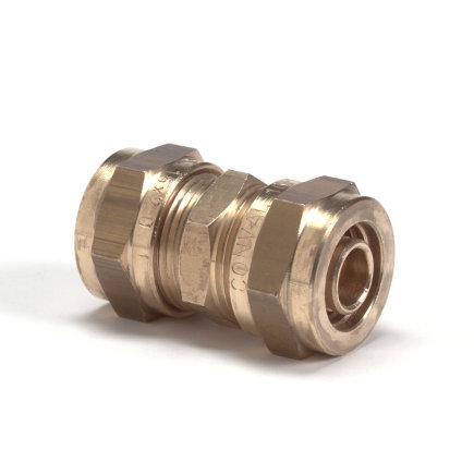Therminon messing koppeling voor vpe vloerverwarmingsleiding, 2x klem, 16 x 2,0 mm  default 435x435