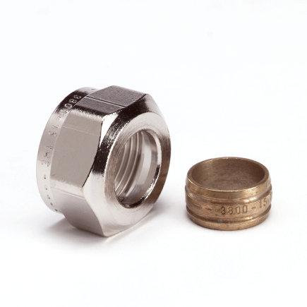 IMI Heimeier koppeling, knel x binnendraad, 15 mm x M24