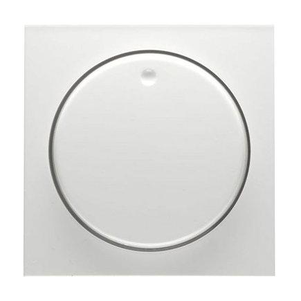 Peha Badora centraalplaat met knop, voor dimmer en potentiometer, levend wit