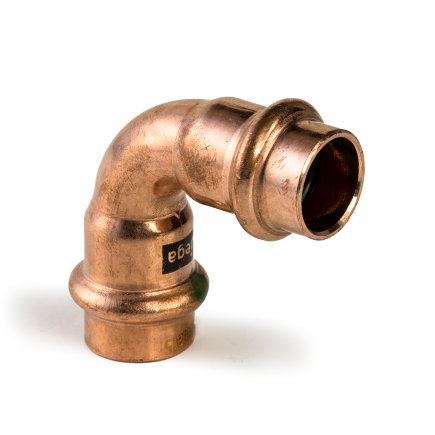 Viega Profipress bocht 90° met SC-Contur, koper, type 2416, 22 mm