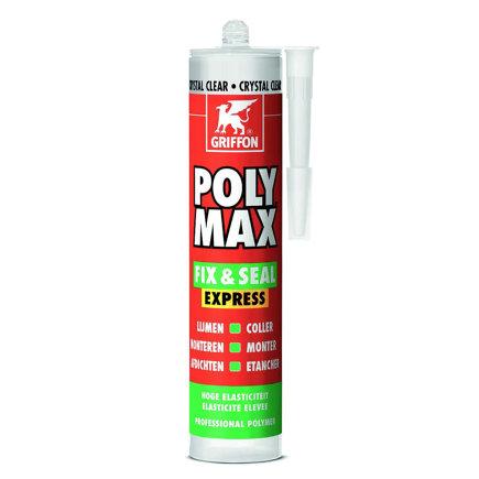 Griffon Poly Max Fix & Seal Express montagekit, crystal clear crt, koker à 300 gram  default 435x435