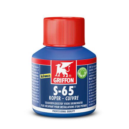 Griffon soldeervloeistof, S-65, Kiwa, flacon à 80 ml