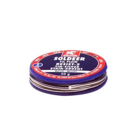 Griffon soldeertin, loodvrij, Resist-2, 97/3, tin/zilver, voor drinkwaterleiding, spoel à 50 gram