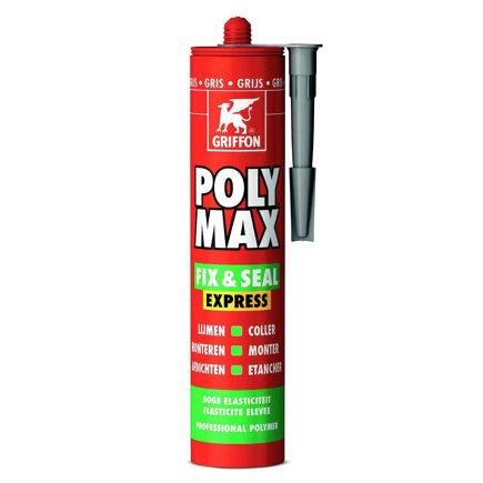Griffon Poly Max Fix & Seal Express montagekit, grijs, koker à 425 gr  default 435x435