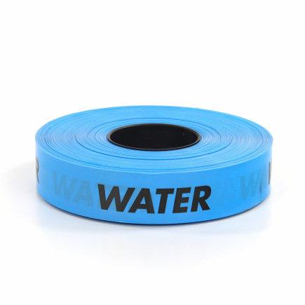 Polyetheen waarschuwingsband, water/blauw, rol à 250 m