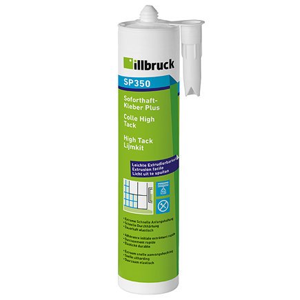 Illbruck High Tack, lijmkit, type SP350, zwart, 310 ml