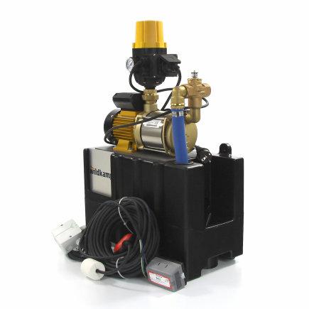 Centrifugaalpomp t.b.v. waterhergebruiksysteem, zelfaanzuigend, incl. tankje