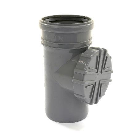 Karmat hwa bladscheider, voor standleiding, pp, grijs, 110 mm  default 435x435