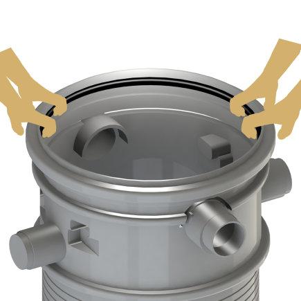 Rubberen afdichtingsring, diam. 20 mm, voor Varitank (filter)schachten