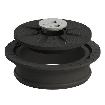 Varitank Twincover, dekselset, incl. 20 cm schacht en rubberen afdichtingsring, kinderveilig  default 435x435