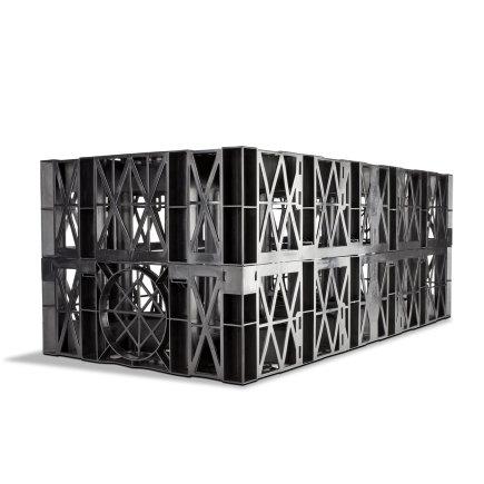 Wavin Sickerblock, Modell Aquacell ECO, 195Liter, o. Geotextilummantelung, 1.000x500x390mm