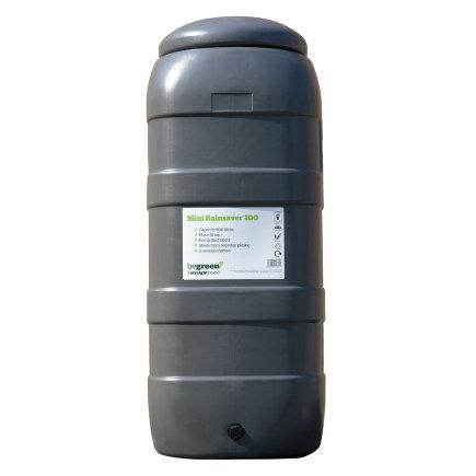 BeGreen mini regenton, pe, grijs, 100 liter, incl. kraan