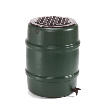 Harcostar Classic regenton, pe, donkergroen, 114 liter, incl. kraan