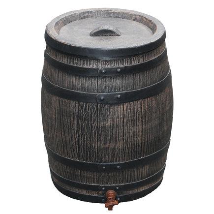 Roto regenton, houten look, 50 liter, incl. kraan